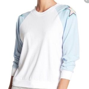 NWT Wildfox Long Sleeve with star embroidery sz L